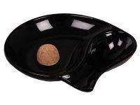 Pipahamutartó 1 pipának - fekete üveg